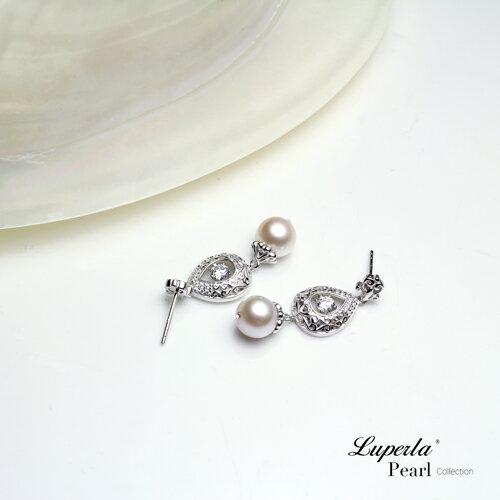大東山珠寶 星芒 日本AKOYA天然海水珍珠純銀晶鑽耳環 2