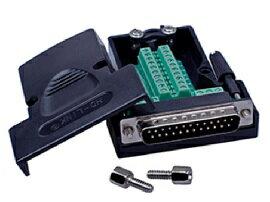 【佑齊企業 iCmore】DB25P 公 免焊RS232螺絲鎖緊式-螺桿或螺母接頭模組  25針 轉綠色端