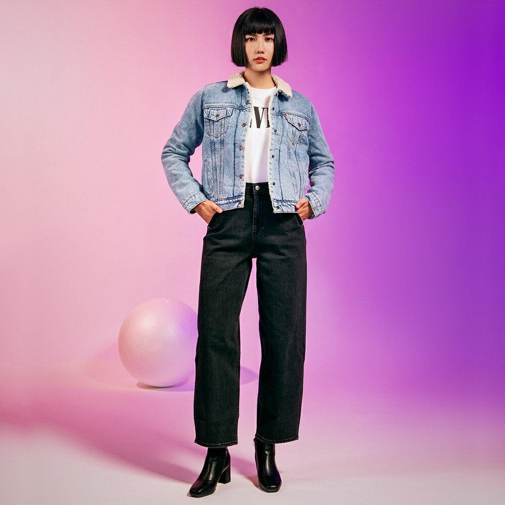 Levis 女款 Balloon 高腰合身氣球版丹寧牛仔寬褲  /  LEJ energy 3D褲  /  Orta歐洲丹寧  /  及踝款 3