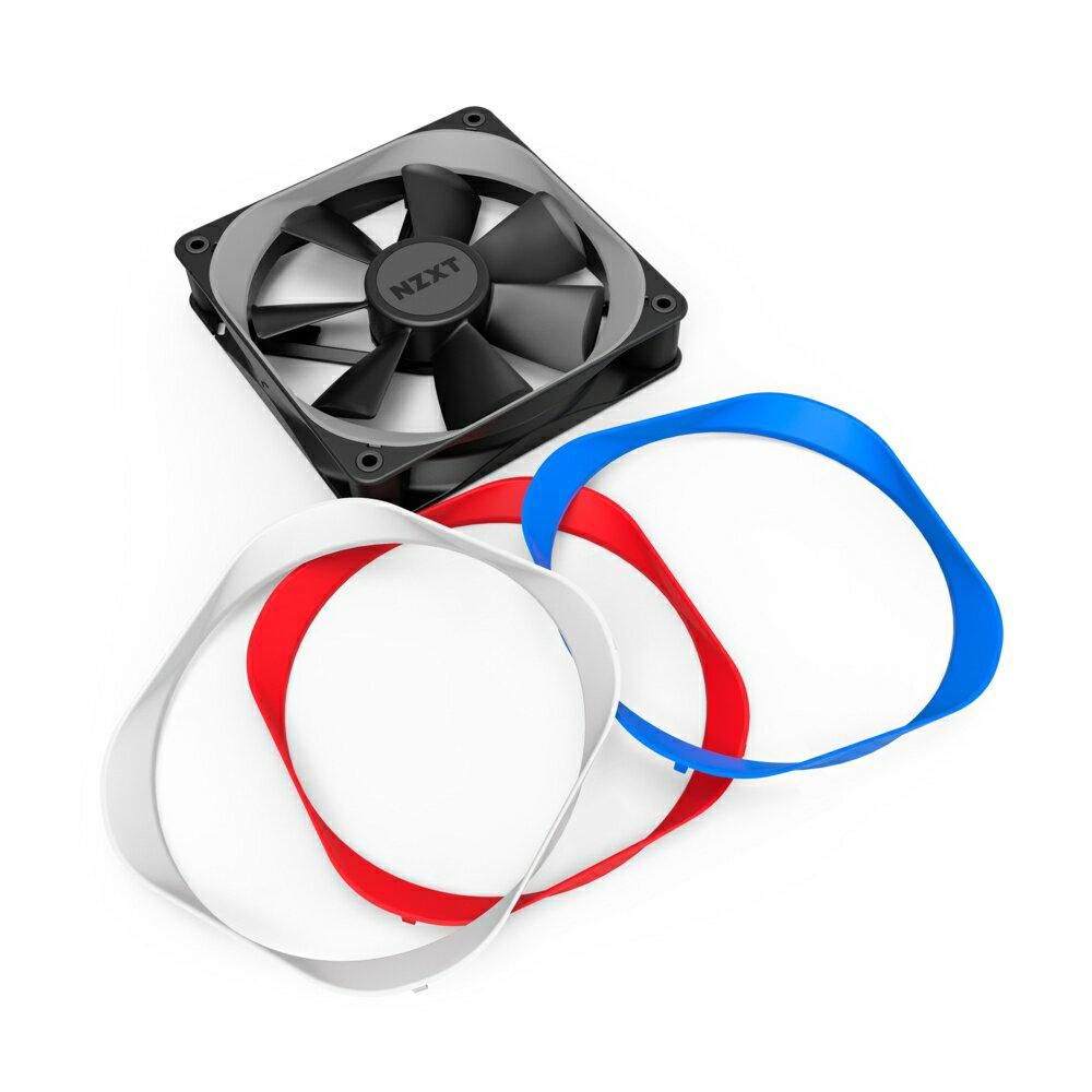 NZXT 恩傑 Aer Trims 風扇彩框 120 mm 散熱風扇配件 白/藍/紅【迪特軍】