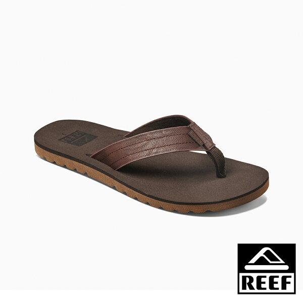 【新品9折↘】REEFSWELLULAR無縫線科技織帶舒適好穿防滑耐磨男款夾腳拖人字拖鞋.深棕RF0A2YFQBRO