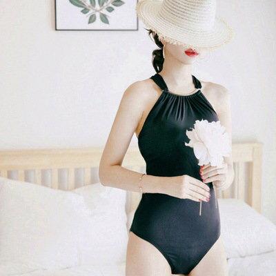 泳裝比基尼泳衣金屬拼接抓皺鏤空美背顯瘦連身泳裝【SF6649】BOBI0322