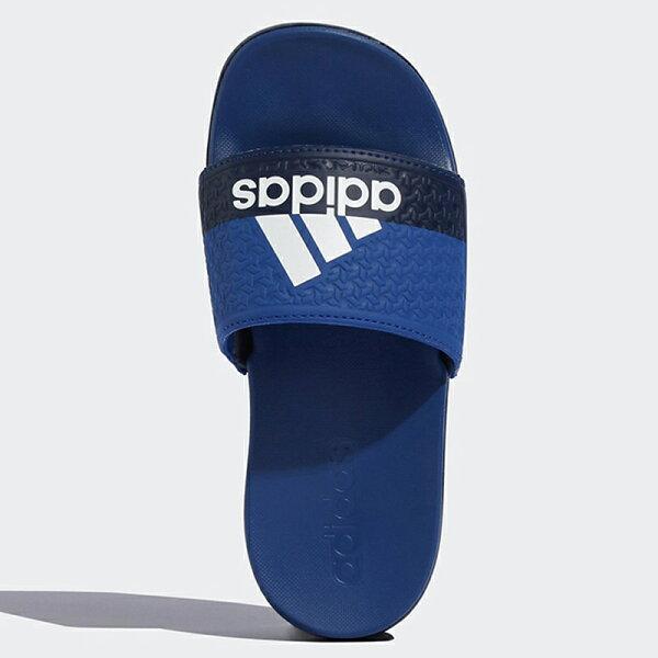 AdidasADILETTECOMFORTK女鞋大童拖鞋休閒軟底藍【運動世界】B43529