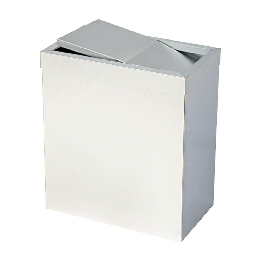 不鏽鋼搖擺式垃圾桶(無內桶) :TH-40S: 回收桶 分類桶 清潔 廚餘桶 環保