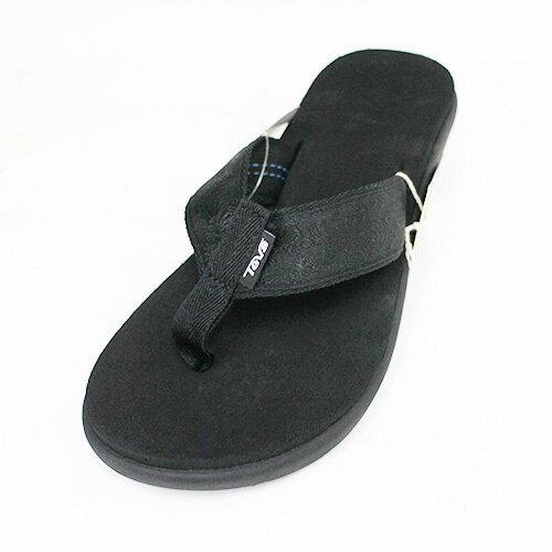 TEVAVoyaWedge女楔形輕量厚底拖鞋記憶鞋床TV1019043MBKT黑[陽光樂活]