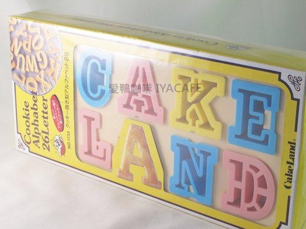 ~愛鴨咖啡~NO~1733 CakeLand26英文單子餅模型 模具