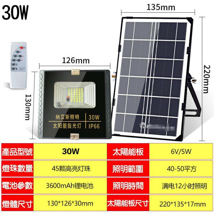 太陽能LED燈戶外庭院燈5米線【45W升級60W】節能省錢高亮防水型投光燈 家用.緊急照明.室內外遙控路燈