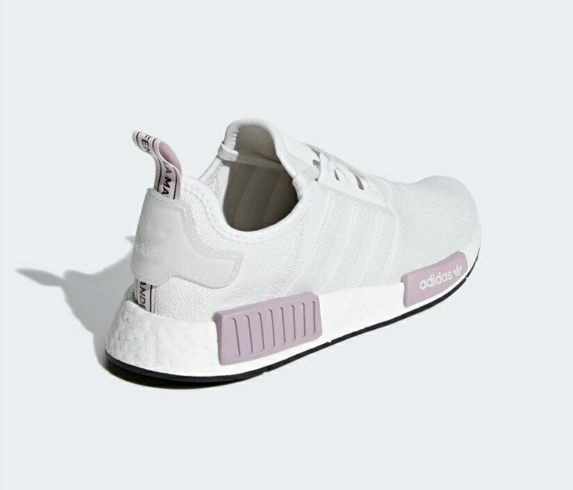 【ADIDAS】NMD_R1 白紫 經典鞋 休閒鞋  慢跑鞋 女 訂價5290 BD8024 (Palace store) 3