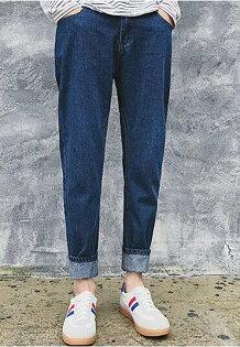 FINDSENSE品牌春裝新款簡約潮流REMIX百搭牛仔褲