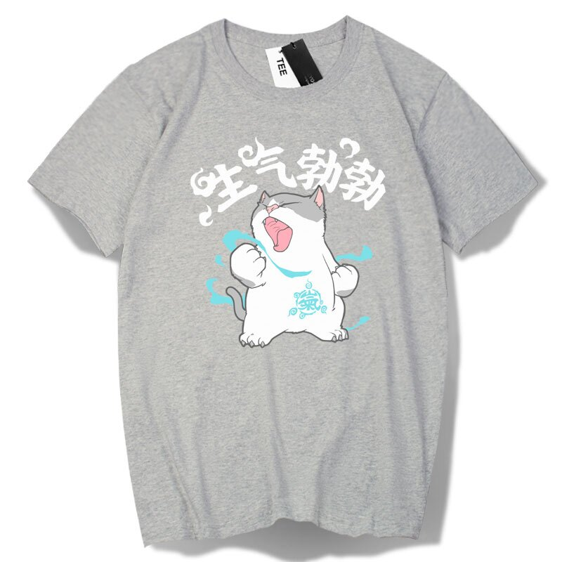 KUSO 搞笑 情侶裝 純棉短T MIT台灣製【Y0886-1】萌寵-生氣勃勃貓 動物萌寵 快速出貨 2