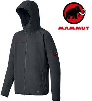Mammut 長毛象 軟殼外套/薄軟殼衣/連帽外套/登山風衣 GRANITE H 1010-25440 男款0001黑色