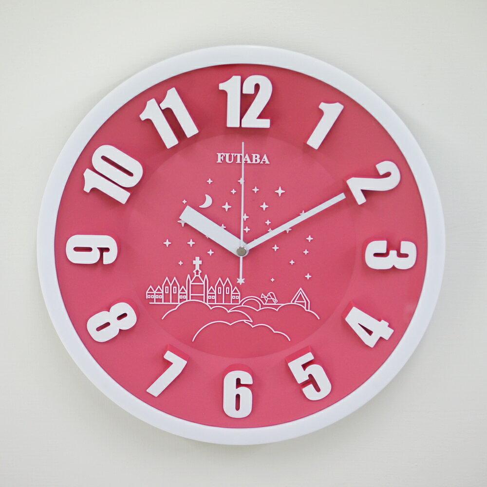 FUTABA-0718 時尚教堂3D立體凸字掛鐘 1