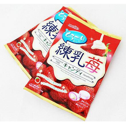 [敵富朗超市]名糖產業草莓煉乳糖果(60g)