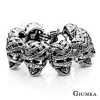 GIUMKA手環手鏈 木乃伊手鍊 德國標準規格精鋼 仿古銀刷黑 潮男個性街頭手鍊 ROCKER 可搭配皮衣皮夾克 單個價格 MH03003