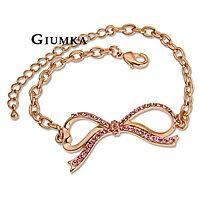 【GIUMKA】浪漫蝴蝶結手鍊 精鍍玫瑰金鋯石 甜美淑女款/單個價格