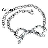 【GIUMKA】浪漫蝴蝶結手鍊 精鍍正白K鋯石 甜美淑女款/單個價格