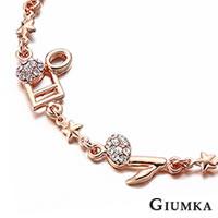 【GIUMKA】音樂精靈手鍊 精鍍玫瑰金 鋯石 甜美淑女款 單個價格 MB00403-11