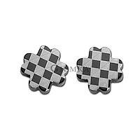 【GIUMKA】經典時格紋十字架造型耳環 316L鋼耳針式耳環 多款任選/單邊單個價格