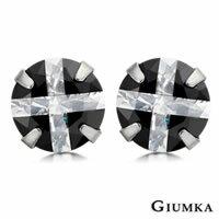 【GIUMKA】閃爍十字架316L精鋼鋯石耳針式耳環 6mm 單邊單個價格