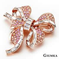 【GIUMKA】優雅蝴蝶結胸針別針 精鍍玫瑰金 鋯石 名媛淑女款 單個價格 MK00008