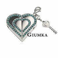 【GIUMKA】 Memory Love項鍊+1G USB隨身碟 316L鋼男女情人對鍊 銀色/鋯石 單個價格/附白鋼鍊