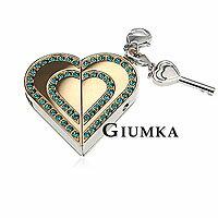 【GIUMKA】 Memory Love項鍊+1G USB隨身碟 316L鋼男女情人對鍊 玫金/鋯石 單個價格/附白鋼鍊