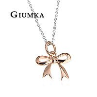 【GIUMKA】手工設計款 玫金925純銀Silver蝴蝶結項鍊 單個價格 MN456-3