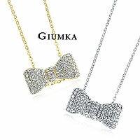 【GIUMKA】公主蝴蝶結鑽石項鍊 精鍍正白K晶鑽鋯石 甜美淑女款 單個價格 MN552