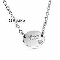 ~GIUMKA~Heaven項鍊 德國精鋼 鋯石 單個  附白鋼鍊
