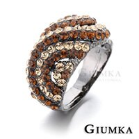 ~GIUMKA~蜜糖甜心戒指 精鍍正白K 黑金 鋯石 甜美淑女款 單個 ^(黑色香檳金鋯^