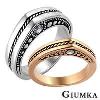 【GIUMKA】皇家復古戒指 男女情人對戒鋼戒指鋯石/一對價格 MR00391