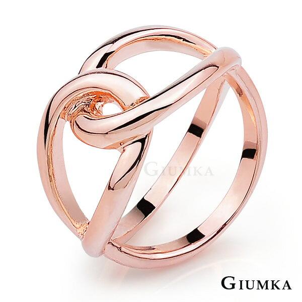 【GIUMKA】雙環交叉戒指 精鍍玫瑰金 韓劇相似款 單個價格 MR04010-3