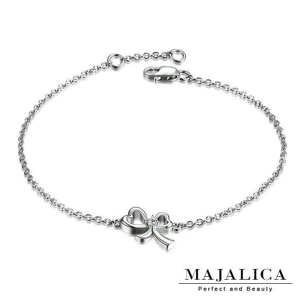 【Majalica】925純銀 愛心蝴蝶結手鍊 甜美淑女款 單個價格 PH03006