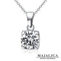 【Majalica】純銀項鍊 閃耀美鑽 925純銀 八心八箭 PN3030
