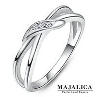 Majalica純銀戒指 美麗結戀 925純銀尾戒 名媛淑女款 單個價格 PR010