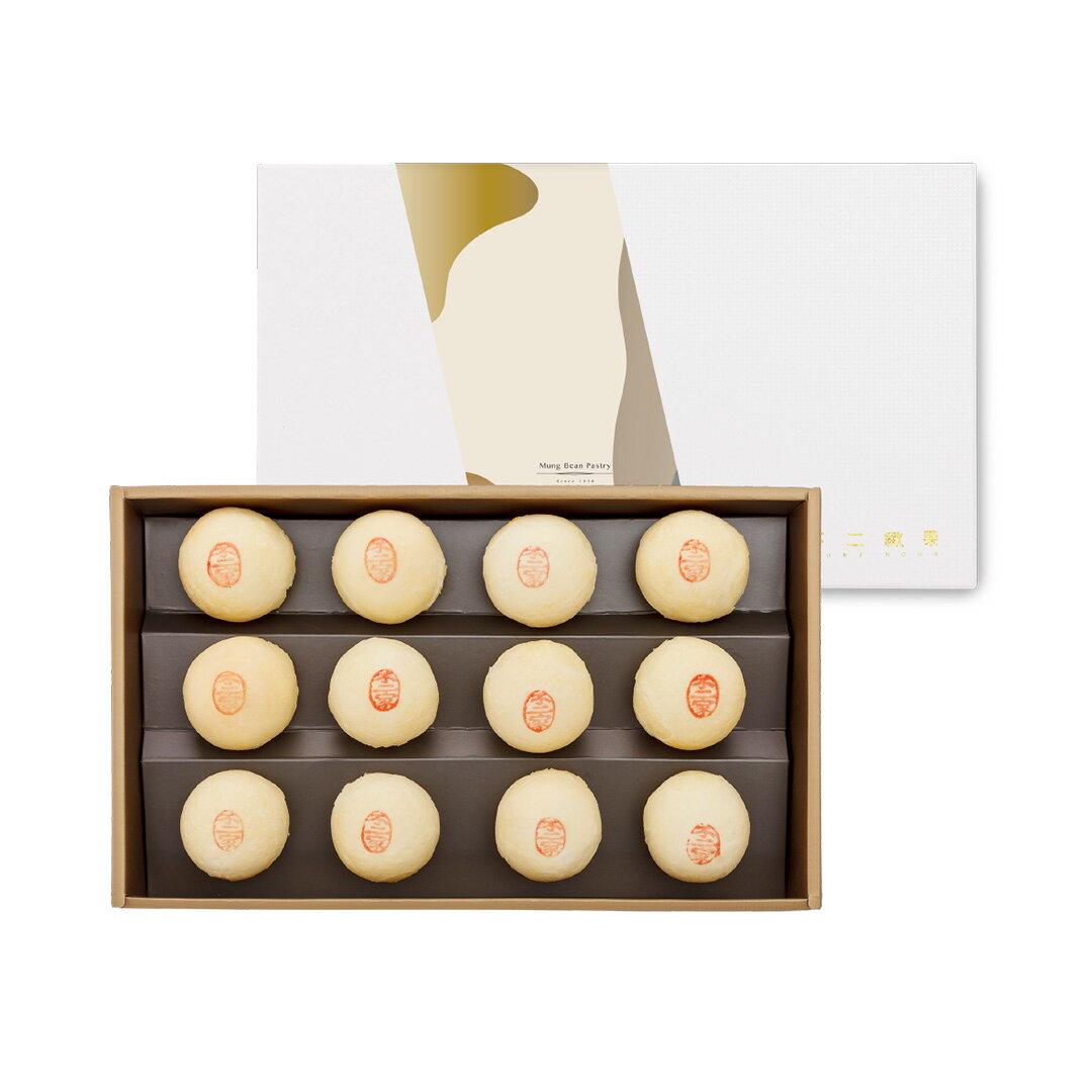 【不二緻果-高雄不二家】12入綠豆酥禮盒 ★傳統經典好滋味★港都81年老店 2