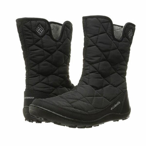 《台南悠活運動家》COLUMBIA UBL15970 防水保暖雪靴 黑