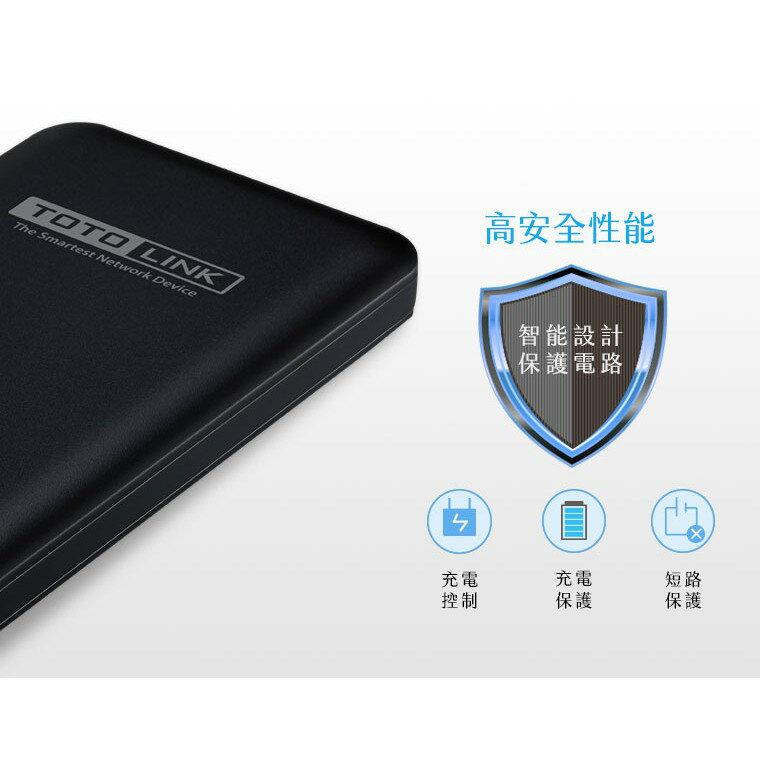 好康加 TOTOLINK 10000mAh超薄快充行動電源-黑附Micro線 手機平板 行動充 充電寳 移動電源 大容量