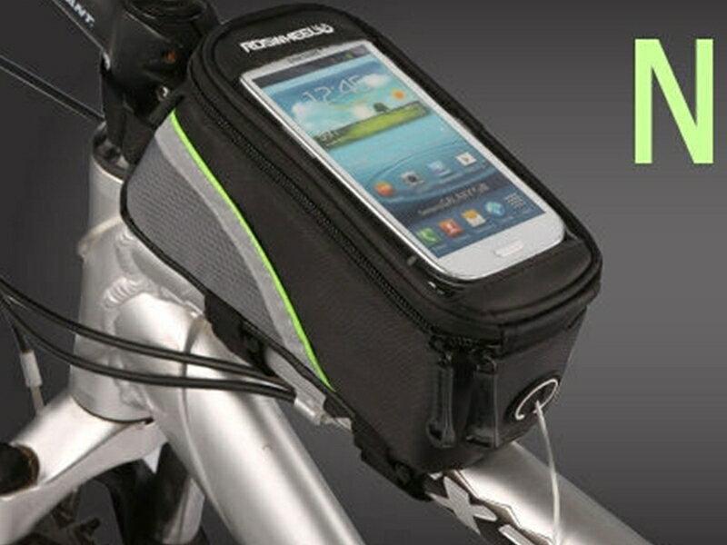 【珍愛頌】B085 智慧手機上管包 5.5吋 附音源線 防水手機袋 觸控手機包 馬鞍包 車前包 自行車包 可觸控大手機包