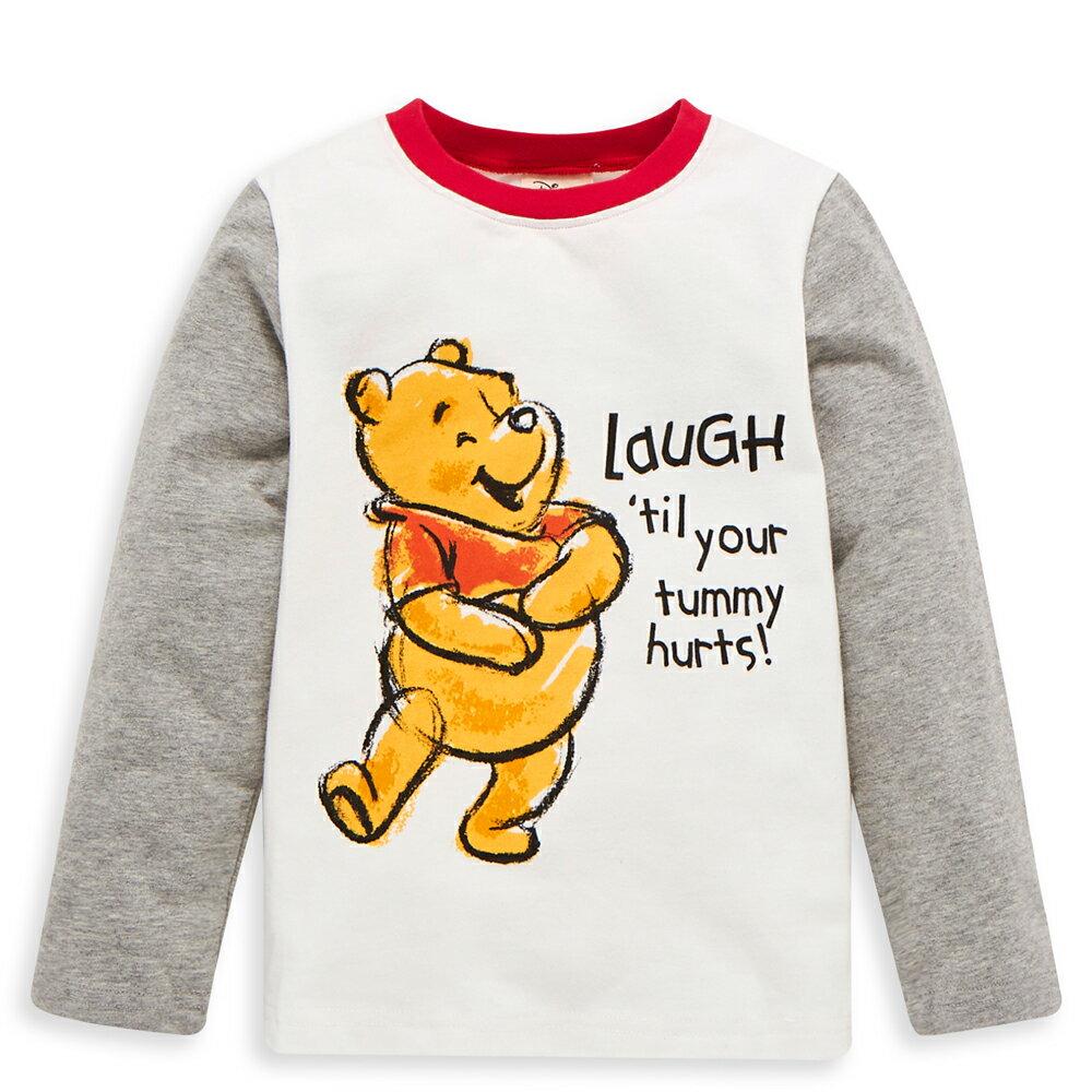 Disney baby 維尼系列愛笑長袖上衣-紅色