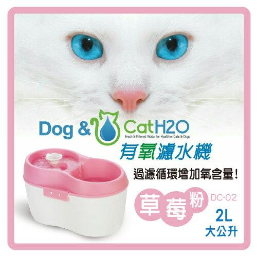 ~力奇~Dog  Cat H2O 有氧濾水 飲水機2L~草莓粉^(DC~02^) ~740