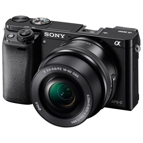 "Sony alpha a6000 24.3 Megapixel Mirrorless Camera with Lens - 16 mm - 50 mm - Black - 3"" LCD - 16:9 - 3x Optical Zoom - 4x - 6000 x 4000 Image - 1920 x 1080 Video - HDMI - HD Movie Mode - Wireless LAN International Version 0"