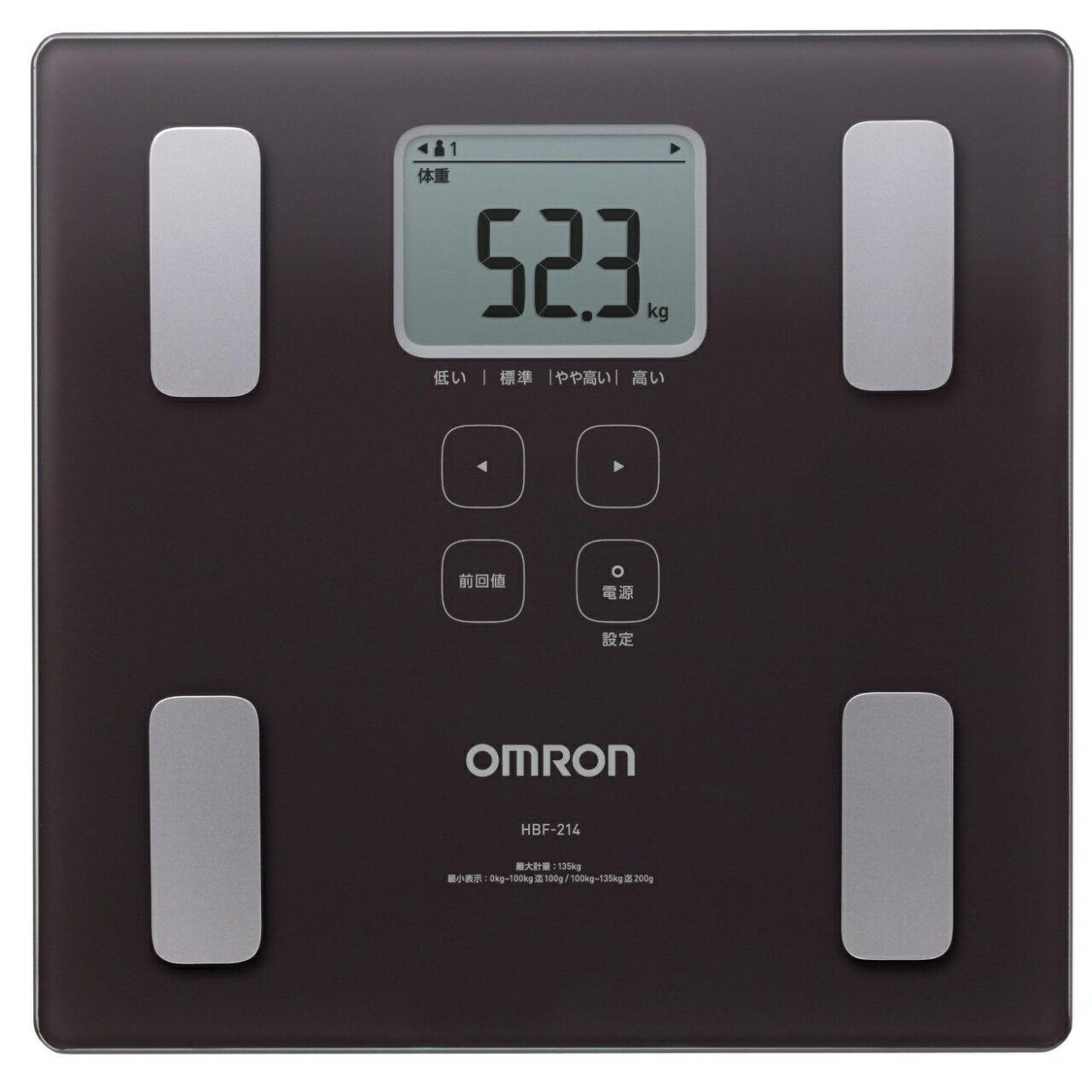 OMRON歐姆龍體脂肪計HBF-214(咖啡色),限量加贈專用提袋(送完為止)
