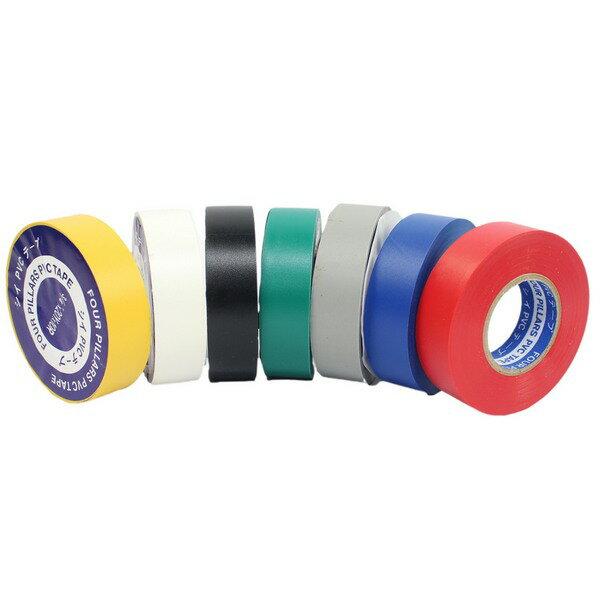電氣膠帶 絕緣膠帶 18mm×20y / 一捲入(定20) PVC絕緣膠帶 電火布 彩色電器膠布-明 1