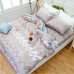 床包組&雙人被套【秋戀】絲絨棉磨毛、柔軟透氣、四季皆宜、MIT台灣製造