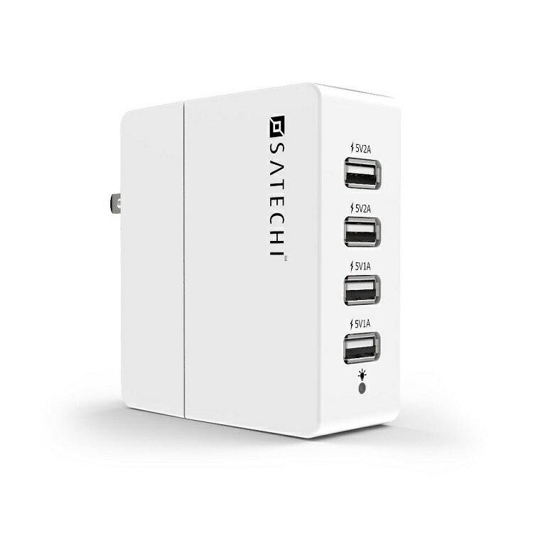 <br/><br/>  ::bonJOIE:: 美國進口 Satechi 4-Port USB Charger 白色款 四孔充電插座 充電器<br/><br/>