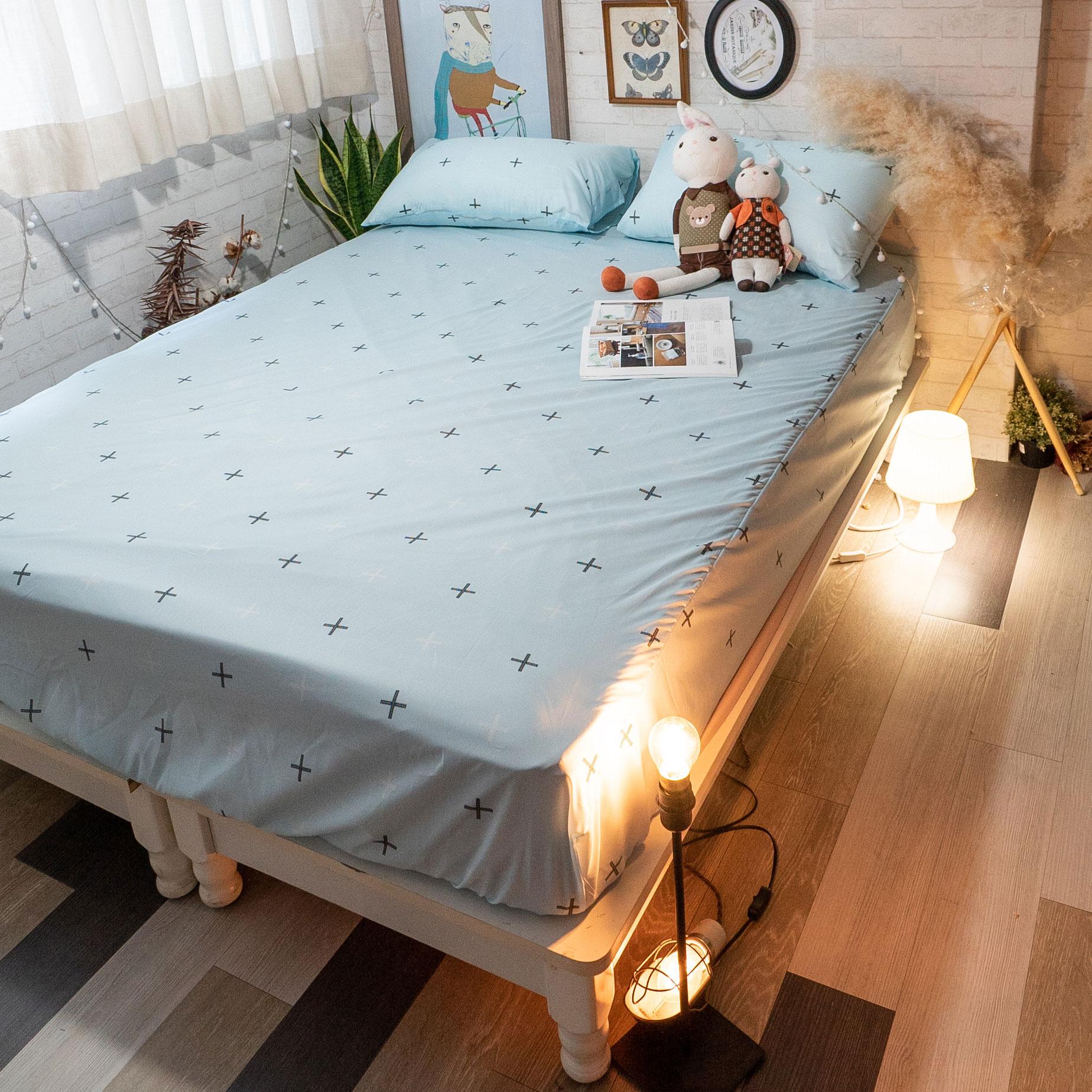 北歐風 超細纖維床包組 四色可選 台灣製造 棉床本舖