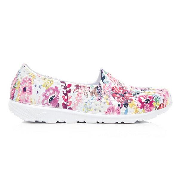《2019新款》Shoestw【92K1SA08PK】PONY TROPIC 水鞋 童鞋 中大童鞋 軟Q 防水 洞洞鞋 五彩花卉白 親子鞋 1