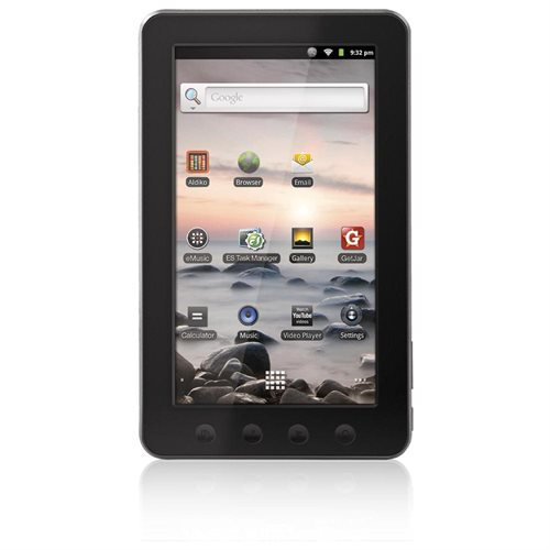 "Coby Kyros MID7012-4G 7"" Tablet, Telechips ARM 11, 4GB Storage, MicroSD Reader, Wi-Fi, Android 2.3 0"