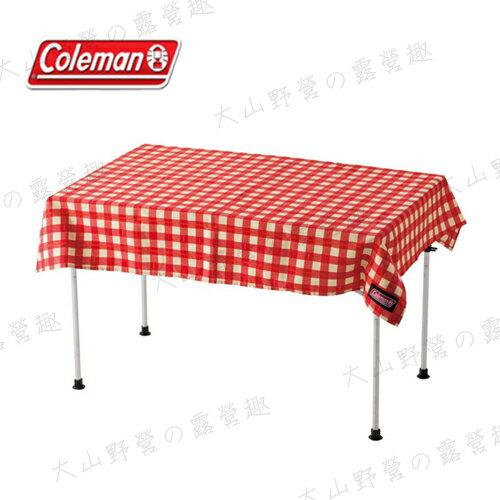 【露營趣】中和安坑 Coleman CM-26878 紅格紋桌布 野餐墊 桌巾 抗汙防水 適用蛋捲桌 摺疊桌
